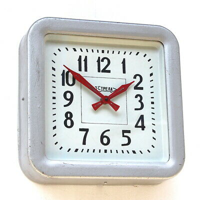 RUSSIAN 1970s Midcentury Vintage Retro Industrial Factory Wall Clock