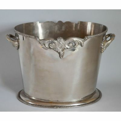 Nice English Oval Silver Plated Champagne Wine Cooler, Brian Highland, Sheffield