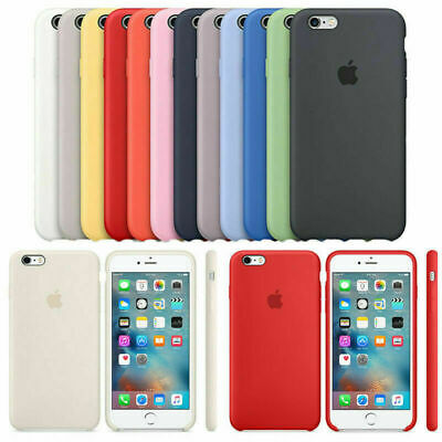 Genuine Official Slim Silicone Coques pour iPhone X XR XS Max 8 7 6S Plus Etuis