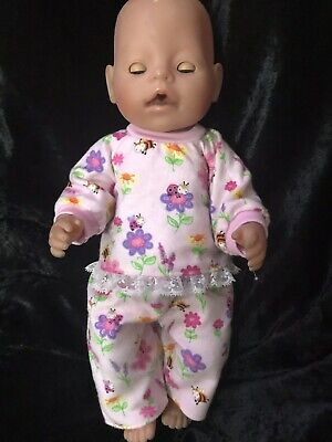 Dolls clothes made to fit 42cm Baby Born Dolls (size Med).  Pyjamas