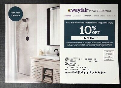 Wayfair Professional 10% Off First Order Code Instant Delivery Exp 9/15/19