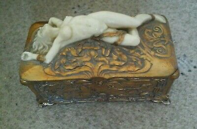 Art Deco Design Box With Reclining Lady