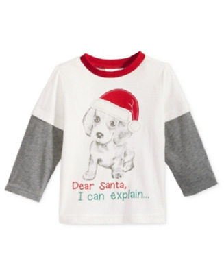 First Impressions Layered-Look Dear Santa T-Shirt, Baby Boys (0-24 months)