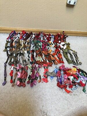 168 Skeins Assorted Embroidery Floss Thread Needlework Huge Lot