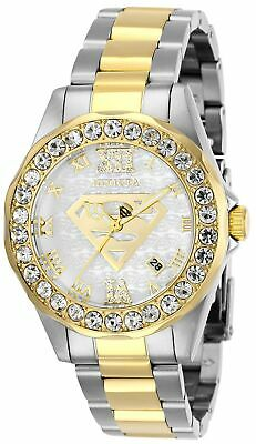 Invicta 29306 DC Comics Lady 38mm Two-Tone White Dial Watch