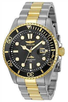 Invicta 30023 Pro Diver Men's 43mm Stainless Steel Black Dial Watch