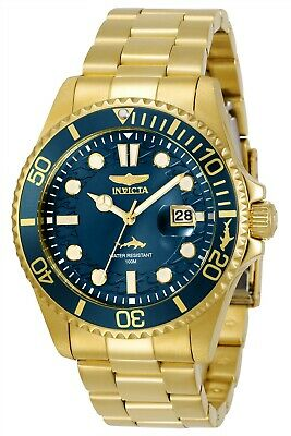 Invicta 30024 Pro Diver Men's 43mm Stainless Steel Gold Blue Dial Watch