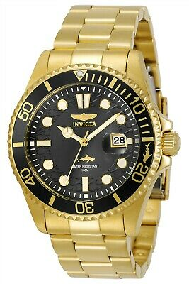 Invicta 30026 Pro Diver Men's 43mm Stainless Steel Gold Black Dial Watch