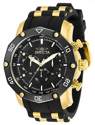 Invicta 30080 Pro Diver Men's 50mm Chronograph Gold-Tone Black Dial Watch