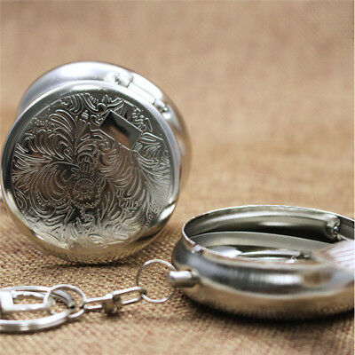 Round Cigarette Keychain Portable Stainless Steel Pocket Ashtray YU