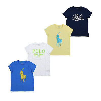 Polo Ralph Lauren Womens Tee Crew Neck Graphic Short Sleeve T-Shirt New Nwt Prl