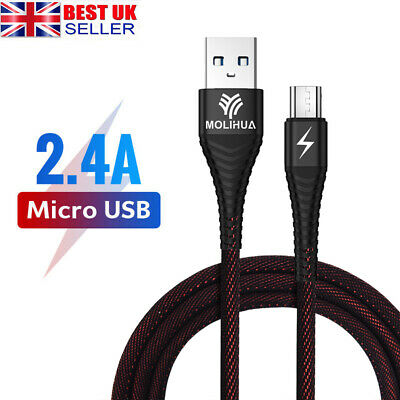 1.2M 2M Micro USB Data Sync Charger Cable Lead For Samsung S6 S7 Edge J5 LG HTC