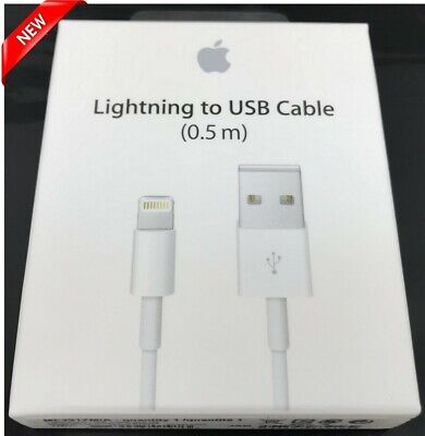 New Original OEM Apple Lightning to USB Charger Cable 0.5M for iPhone or iPad