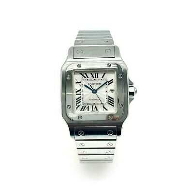 Cartier Santos 29mm Stainless Steel Automatic Watch Ref # 2319 Womens