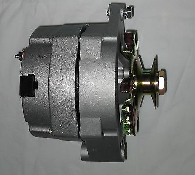 TRACTOR OR CAR 12 volt 60 amp 1 wire alternator Positive Ground GM w/ pulley