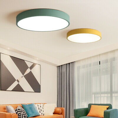 LED Ceiling Lights 5cm Thin Dimmable Lighting Fixture Flush Mount Remote Control
