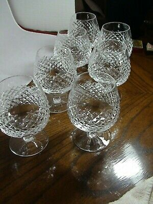 set of 7 Waterford Alana Brandy Snifters Very Good.Condition