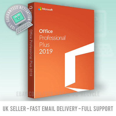 Microsoft Office 2019 Pro Professional Plus 32/64bit Genuine License Key Code