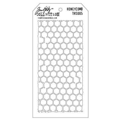 Stampers Anonymous Tim Holtz Layering Stencil Honeycomb