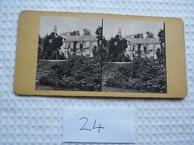 Rare image - Historic House -UK Antique Stereoview (Albumen type)-early 1900's
