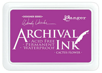 Ranger Archival Ink Stamp Pad Cactus Flower