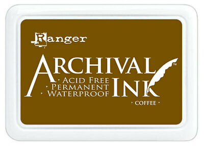 Ranger Archival Ink Stamp Pad Coffee