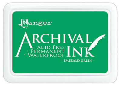 Ranger Archival Ink Stamp Pad Emerald Green
