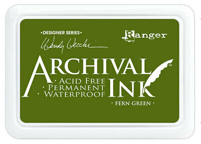 Ranger Archival Ink Stamp Pad Fern Green