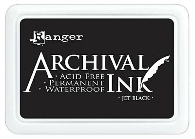Ranger Archival Ink Jet Black Stamp Pad