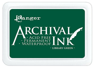 Ranger Archival Ink Stamp Pad Library Green
