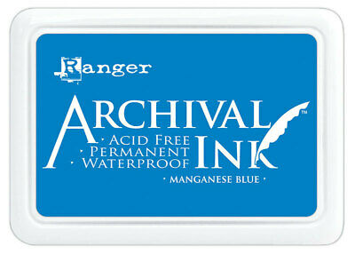 Ranger Archival Ink Stamp Pad Manganese Blue