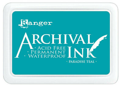 Ranger Archival Ink Stamp Pad Paradise Teal
