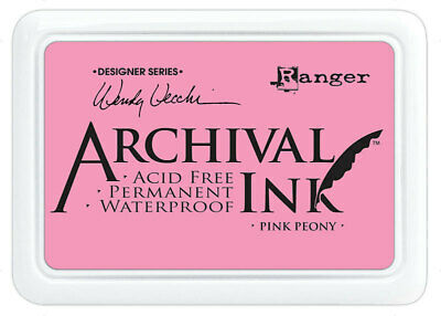 Ranger Archival Ink Stamp Pad Pink Peony