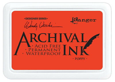 Ranger Archival Ink Stamp Pad Poppy