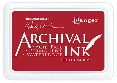 Ranger Archival Ink Stamp Pad Red Geranium