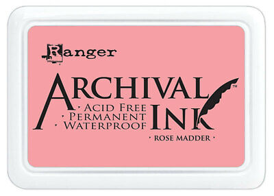 Ranger Archival Ink Stamp Pad Rose Madder