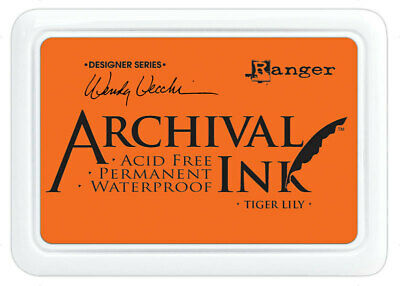Ranger Archival Ink Stamp Pad Tiger Lily