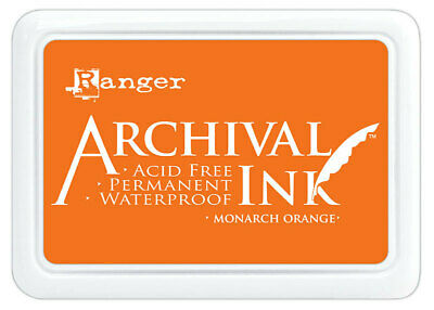 Ranger Archival Ink Stamp Pad Monarch Orange