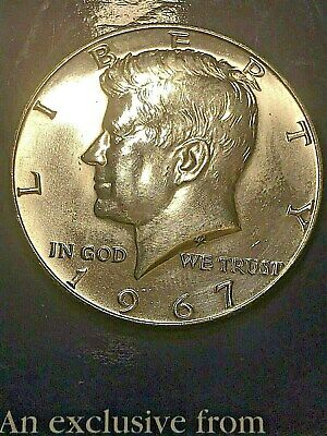 1967 Kennedy 40% Silver Half Dollar GEM BU EXACT LIKE Coin in Picture Free S/H