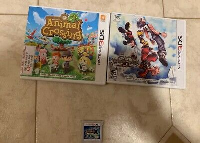 Nintendo 3DS Games Lot Including Pokemon X, Animal Crossing New Leaf, And More