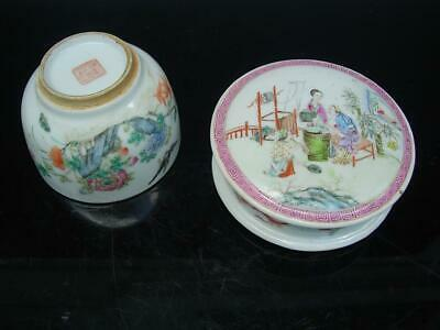 Pair Of Antique Chiese Famille Rose Porcelain Bowl And Washer