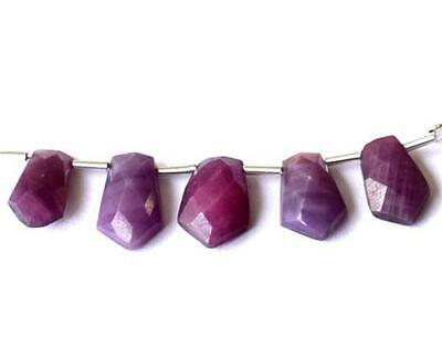 Ruby Beads Faceted Fancy 6X11 - 7.5X12 Mm Natural Gemstone 15 Cts - 5 Pcs  #1237