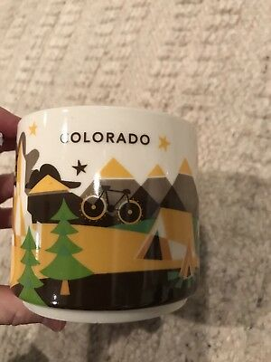 "Starbucks 2013 Colorado State City Cup Mug ""You Are Here"" YAH Collection 14 Oz"