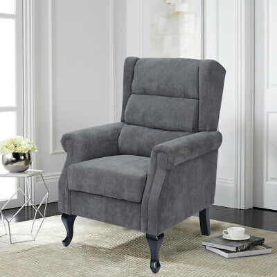 Chesterfield Wing High Corduroy Armchair Sofa Fireside Lounge Chair Orthopaedic
