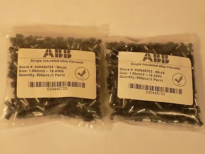 ABB Insulated Wire End Ferrules 16AWG 1000 pieces