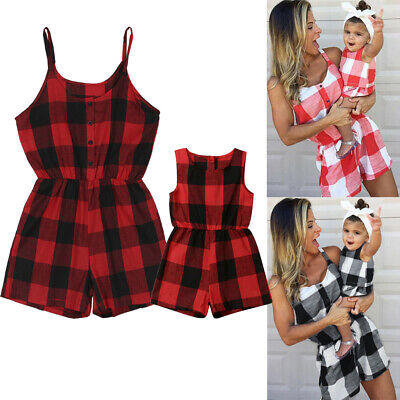 Mother and Daughter Clothes Parent-child Dress Family Matching Outfits Jumpsuit