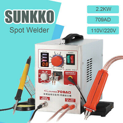 SUNKKO S709AD LED Digital Dual Pulse Spot Welder Machine Battery Charger 50W