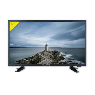 TV LED 24 Pollici Televisore New Majestic Full HD DVB T2 HDMI USB TVD224S2LE ITA
