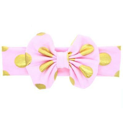 Newborn Baby Toddler Girls Cotton Bow Headband Headwrap Hair Band Accessory