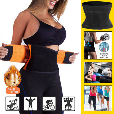Sport Waist Trainer Weight Loss for Women Sweat Thermo Wrap Body Shaper Belt DSK